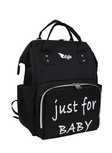 Stylo Star Just For Baby Anne Bebek Bakım Ve Sırt Çantası + Termos Çanta Siyah